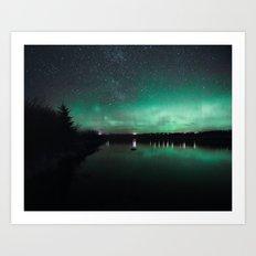 Northern Lights over Emerald Bay II Art Print