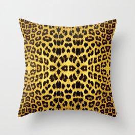 Leopard Print - Gold Throw Pillow