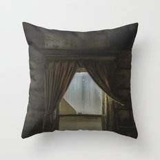 my window looked out upon nothing Throw Pillow