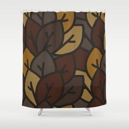 Leaf litter III Shower Curtain