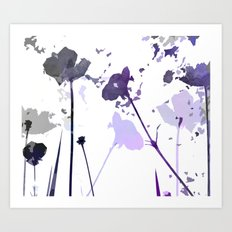 Field of Flowers Indigo Art Print
