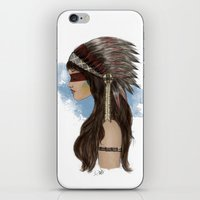 native american iPhone & iPod Skins featuring Native american by Erika Leiva
