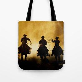 Three Cowboys Western Tote Bag