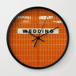 Berlin U-Bahn Memories - Wedding Wall Clock