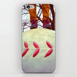 Stand On A Baseball iPhone Skin