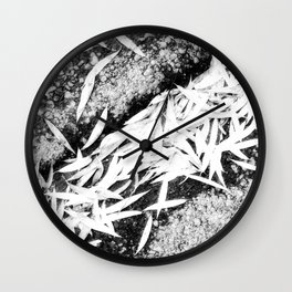 Bleached Winter Leaves Forest Fall Wall Clock