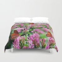 wedding Duvet Covers featuring Wedding Butterfly by BeachStudio