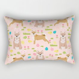 Shiba Inu dog breed easter bunny dog costume pet portrait dog patterns Rectangular Pillow