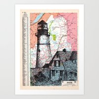 maine Art Prints featuring Maine by Ursula Rodgers