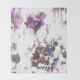 Lavender Mint Splash Abstract Design Throw Blanket