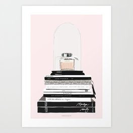 The Perfume & the Fashion Magazines Art Print