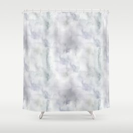 Abstract modern gray lavender watercolor pattern Shower Curtain