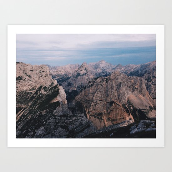 Just mountains Art Print