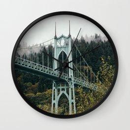 St. John's Bridge in Portland Wall Clock