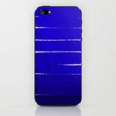 Shel - abstract painting painterly brushstrokes indigo blue bright happy paint abstract minimal mode iPhone & iPod Skin