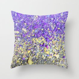 Chalk Dust Confetti Purple and Yellow Throw Pillow
