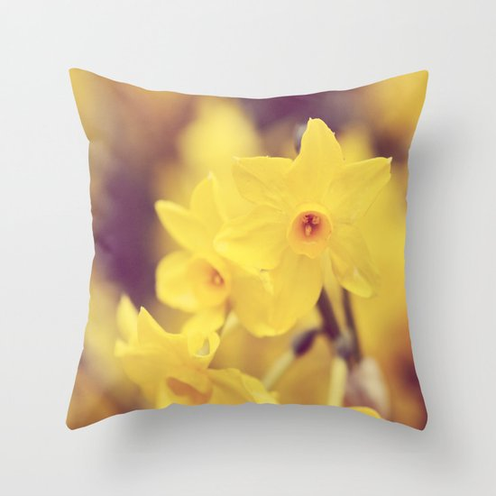 Happy Spring  - JUSTART © Throw Pillow