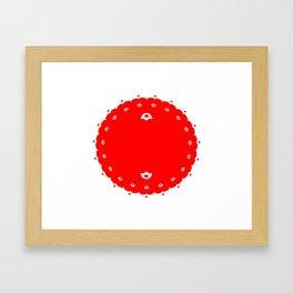 Domino for Japan Framed Art Print