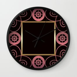 Black and pink frame . Wall Clock