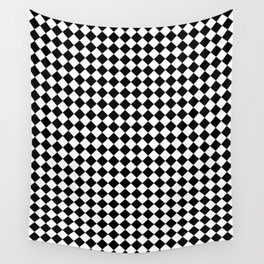 Black and White Diamonds Wall Tapestry