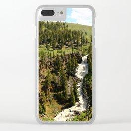 Undine Falls Yellowstone N P Clear iPhone Case