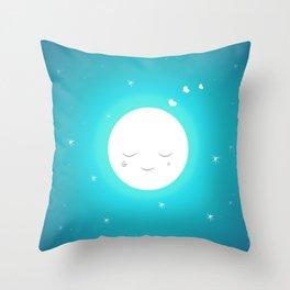 Sweet moon Throw Pillow