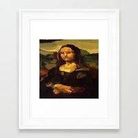 mona lisa Framed Art Prints featuring Mona Lisa by Robert Morris
