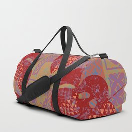 Hawaiian Lava Leaves Tapa Print Duffle Bag