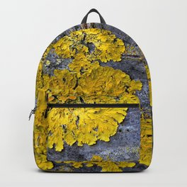 Tree Bark Pattern # 3 with yellow lichen Backpack