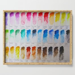 Watercolor Swatches Serving Tray