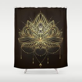 Ornamental Lotus flower Shower Curtain