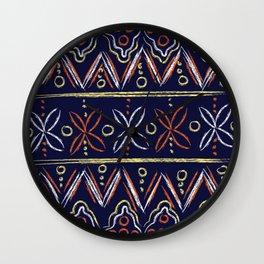 Geometric Chalkboard Print Wall Clock