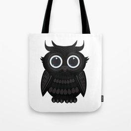 Black Owl Tote Bag