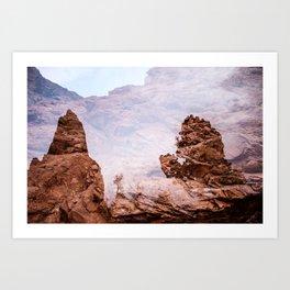 Red Rock  Art Print