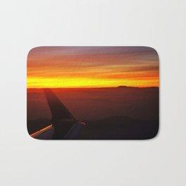 Sunset at 30,000 Feet Bath Mat