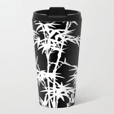 Black and White Bamboo Silhouette Metal Travel Mug