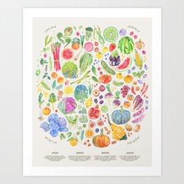 Seasonal Harvests - Neutral Art Print