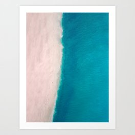Beach + Sea Art Print