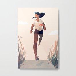 Runner Girl Metal Print