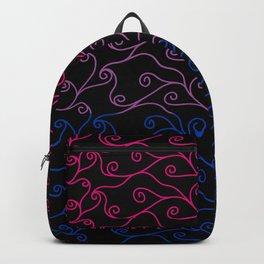Swirls and Silk - Bisexual Flag Backpack