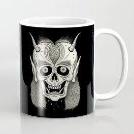 Grinning Skull with Horns Coffee Mug