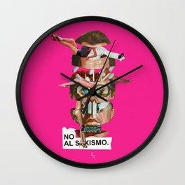 NO AL SEXISMO Wall Clock