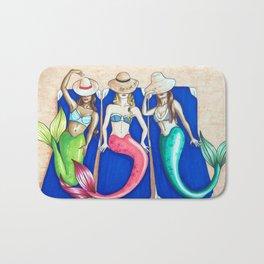 Sunbathing Mermaids Bath Mat