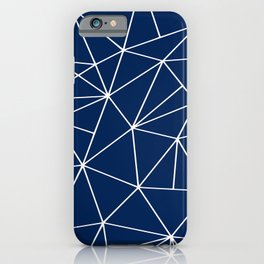 Triangle Geometric Art,  Navy Blue, Pieces Art iPhone Case