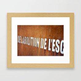 Nantes Text Framed Art Print