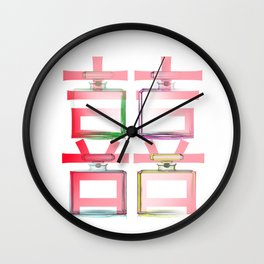 NO.5 DOUBLE HAPPINESS IN RED Wall Clock
