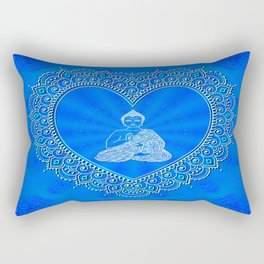 Buddha Icon (Blissful & Calm) Rectangular Pillow
