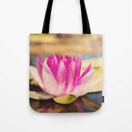 Quiet: A Pink Lily Pad  Tote Bag