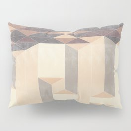 Dusty Triangle columns - fall colors Pillow Sham