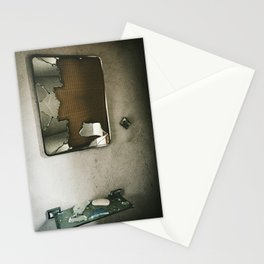 Shattered Bathroom Mirror Stationery Cards